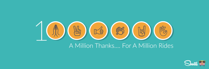 Thank You For #1MillionRides!