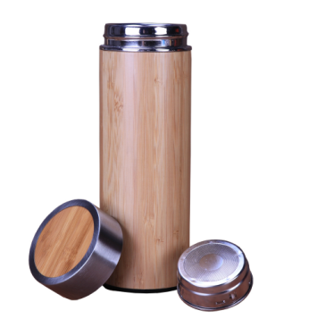 Bamboo, refillable water bottle