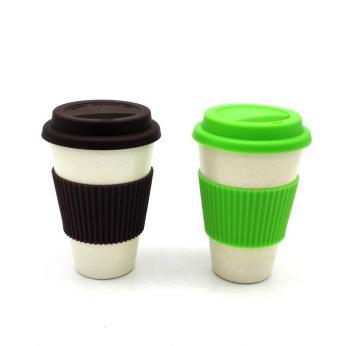 Bamboo reusable coffee mugs